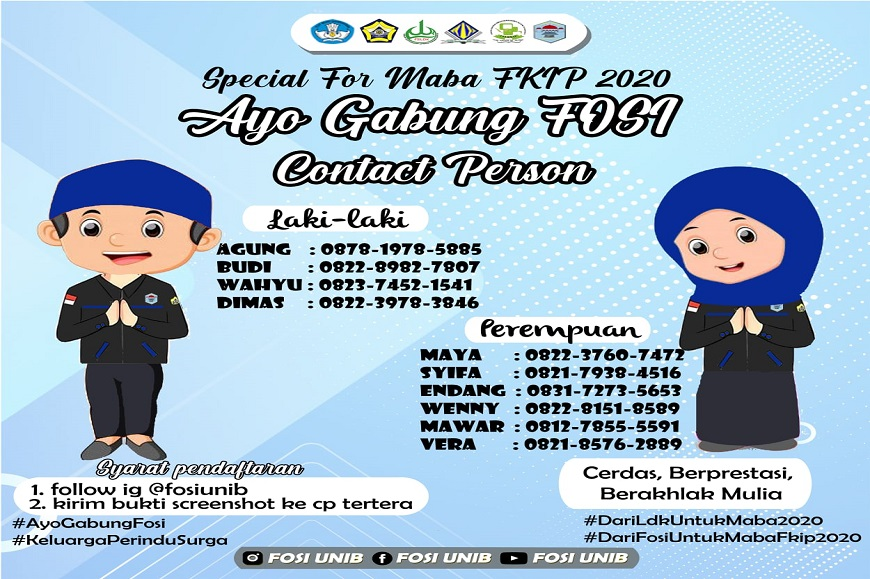 Special For MABA FKIP 2020, Ayo Gabung FOSI !!!!